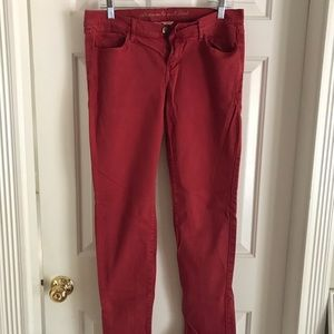 Abercrombie and Fitch Red Jeans size 6